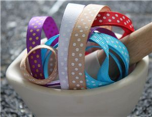 swiss dot ribbons