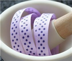 Grosgrain Ribbon - Swiss Dot Lt Orchid/Purple