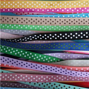 Grosgrain Ribbon - Swiss Dot WANT IT ALL