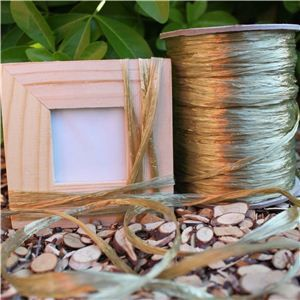 Raffia Ribbon - Shiny Gold