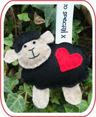 I love Ewe Kit - Sheep Black