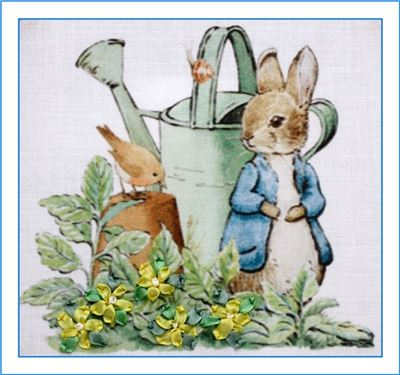 Silk Ribbon Embroidery Kit - Watering Can