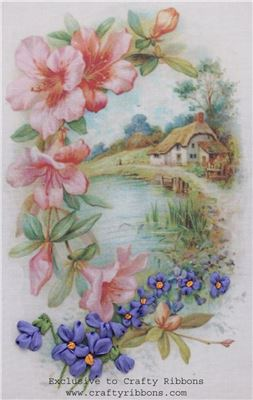 Silk Ribbon Embroidery Kit - Violet Pond Cottage