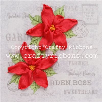 Silk Ribbon Embroidery Kit - Poinsettia