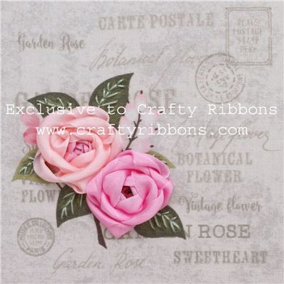 Silk Ribbon Embroidery Kit - Roses