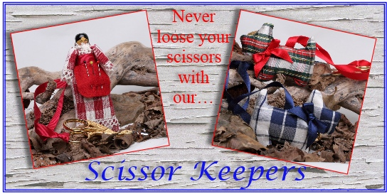scissor keepers with ribbon