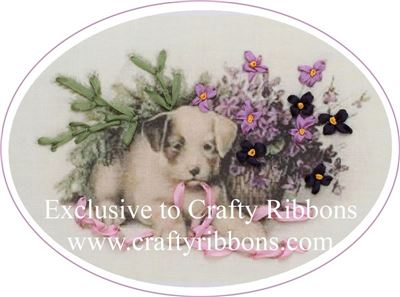 Silk Ribbon Embroidery Kit - Puppy