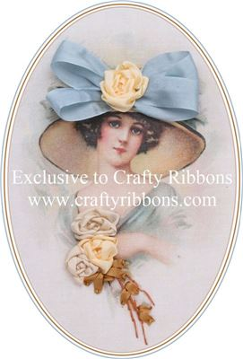 Silk Ribbon Embroidery Kit - Lady in a Hat