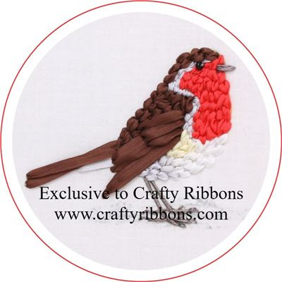 Silk Ribbon Embroidery Kit - Robin