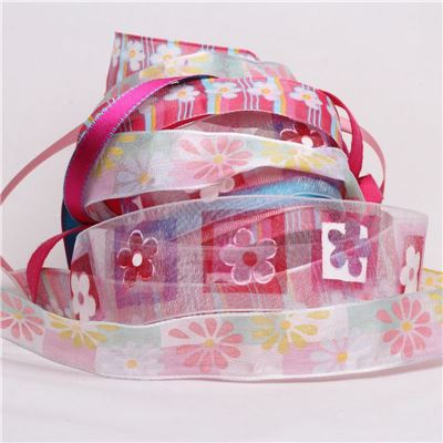 Ribbon Pack - Pink Flowers