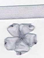 10mm Sheer Ribbon - Silver Grey