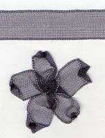 10mm Sheer Ribbon -  Smoke Grey
