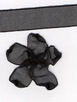 10mm Sheer Ribbon - Black