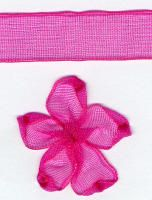10mm Sheer  Ribbon - Shocking Pink