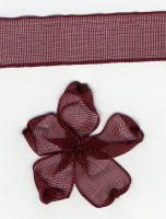 10mm Sheer Ribbon -  Burgundy