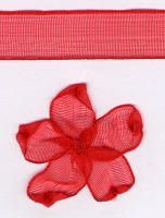 10mm Sheer Ribbon -  Red