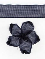 10mm Sheer Ribbon - Navy