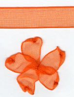 10mm Sheer Ribbon -  Orange