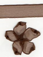 10mm Sheer Ribbon - Dark Brown