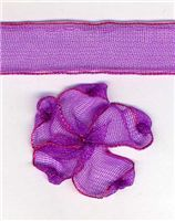 10mm Sheer Ribbon - Plum
