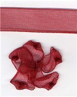 10mm Sheer Ribbon -  Scarlet Berry