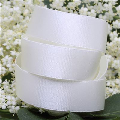 15mm Satin Ribbon - Bridal White