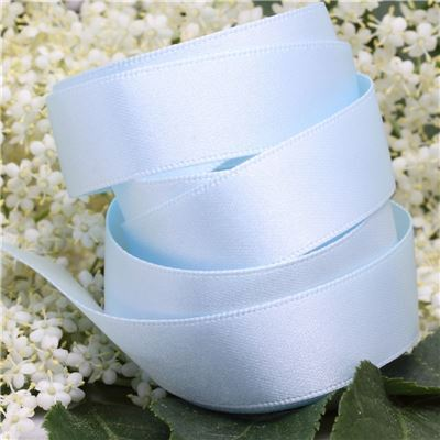 15mm Satin Ribbon - Sky