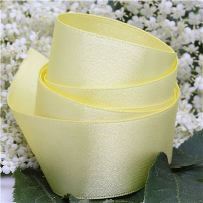 25mm Satin Ribbon - Lemon