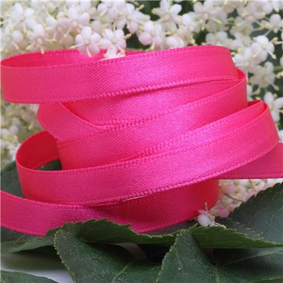 7mm Satin Ribbon - Shocking Pink