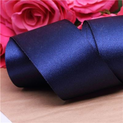 35mm Satin Ribbon - Navy