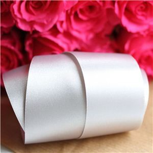 35mm Satin Ribbon - Silver Grey