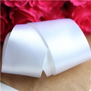 35mm Satin Ribbon - White