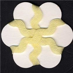 9mm Ric Rac Ribbon - Cream