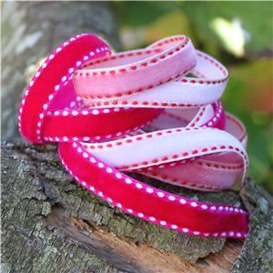 Velvet Saddle Stitch Ribbon - WANT IT ALL