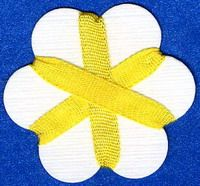 4mm Silk Ribbon -  Yellow