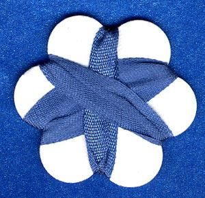 7mm Silk Ribbon - Blue