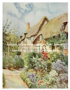Printed Panel - Cottage Garden