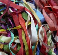 Silk Ribbon Scrap Bags