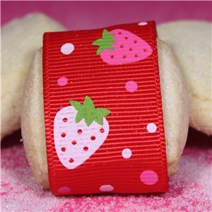 Strawberry Shortcake Ribbon - Red