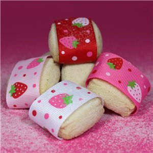 Strawberry Shortcake Ribbon - WANT IT ALL 10&25mm