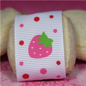 Strawberry Shortcake Ribbon - White
