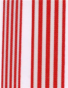 Fresh Stripe Ribbon - Red