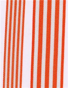 Fresh Stripe Ribbon - Orange