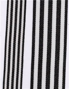 Fresh Stripe Ribbon - Black