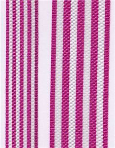 Fresh Stripe Ribbon - Fuchsia