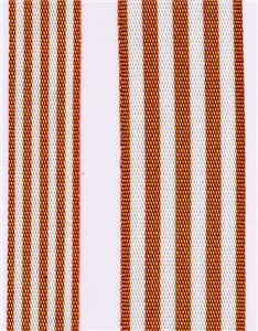 Fresh Stripe Ribbon - Rust