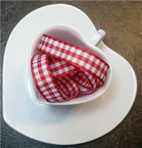 Valentine Ribbon - Gingham