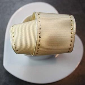 Valentine Ribbon - Cream Saddle Stitch