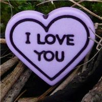 Button - I  Love You - Lilac