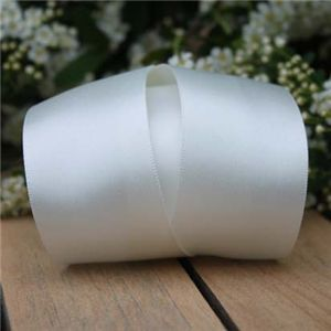 Wedding Ribbon - 35mm Satin Ribbon B/W